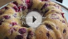 Raspberry Lemon Sour Cream Pound Cake