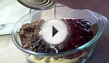 Recipes using cake mixes: #8 Triple Chocolate Cherry Bars