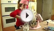 Red Velvet Cake Recipe : Beating Cream Cheese & Butter for