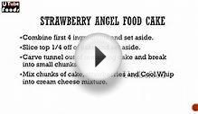 STRAWBERRY ANGEL FOOD CAKE - Making of Cakes -- How to